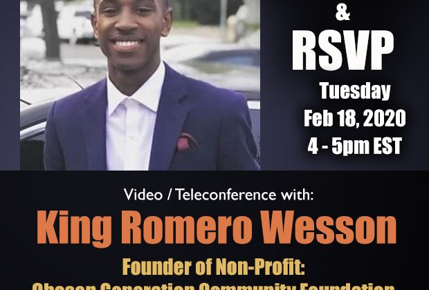 Video / Teleconference: King Romero Wesson